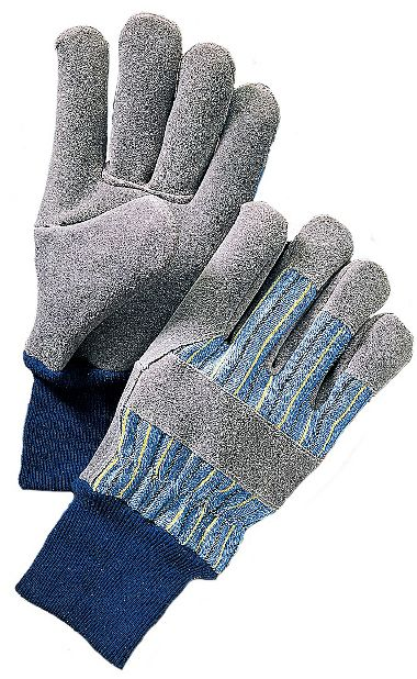 Premium Leather Palm Gloves, Knit Wrist