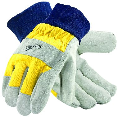 Tiger Cat™ Premium Leather Palm Gloves, Knit Wrist, 1 Pair