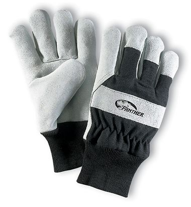 Panther™ Gloves, Leather Palm, Knit Wrist, 1 Pair