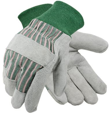 Leather Palm Gloves, Knit Wrist