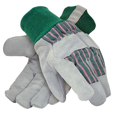 Leather Palm Gloves, Insulated, 1 Pair