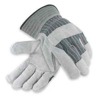 Leather Palm Gloves, Ladies' Safety Cuff