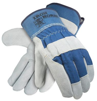 Iron Horse Leather Palm Gloves With Safety Cuff, Sewn with Cut Resistant Thread, 1 Pair