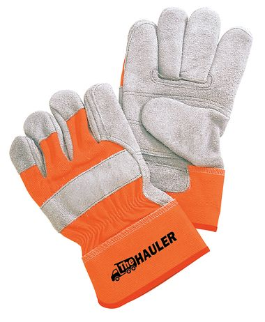 The Hauler Double Palm Glove, Safety Cuff, 1 Pair