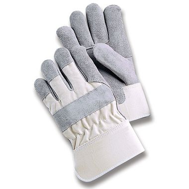 Select Leather Palm Gloves with White Back, Safety Cuff
