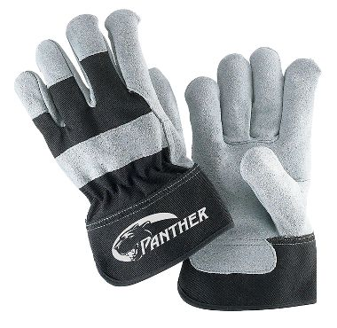 Panther™ Leather Palm Gloves, Safety Cuff, 1 Pair