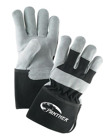 Panther™ Leather Palm Gloves w/ Gauntlet Cuff, 1 Pair