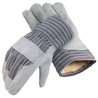 Leather Palm Gloves, Thermal Insulation, Comfort Cuff