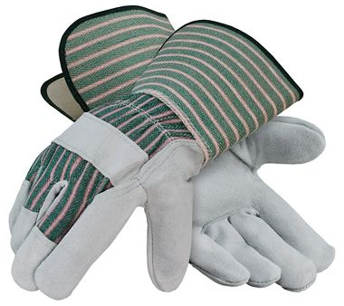 Leather Palm Gloves, Gauntlet Cuff, 1 Pair