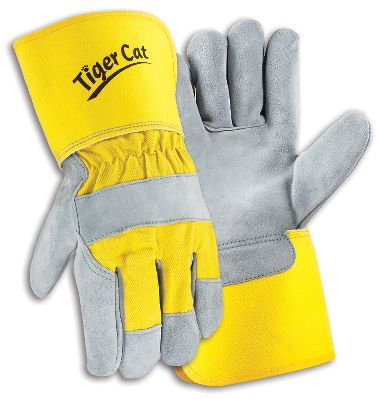 Tiger Cat™ Premium Leather Palm Gloves w/ Gauntlet Cuff