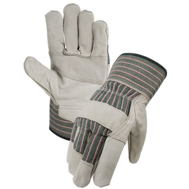 Grain Leather Patch Palm Gloves