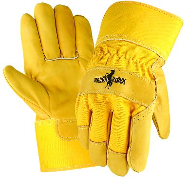 Rough Rider™ Grain Leather Palm Gloves, Safety Cuff