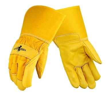 Rough Rider® Grain Leather Palm Gloves, Gauntlet Cuff