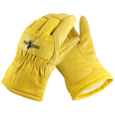 Rough Rider® Insulated Grain Leather Palm Gloves, Comfort Cuff, 1 Pair