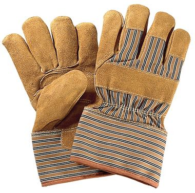 Leather Palm Gloves with Thermal Insulation, Safety Cuff