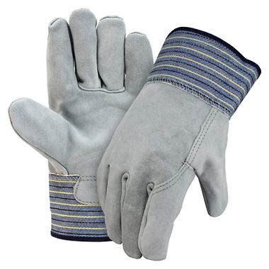 Premium Leather Palm Gloves, Full Leather Back, Safety Cuff