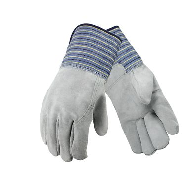 Premium Leather Palm Gloves, Leather Back, Gauntlet Cuff