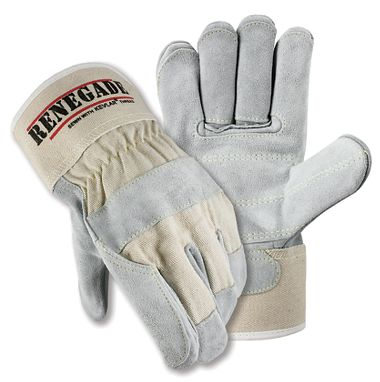 Renegade® Double Palm Gloves, Safety Cuff