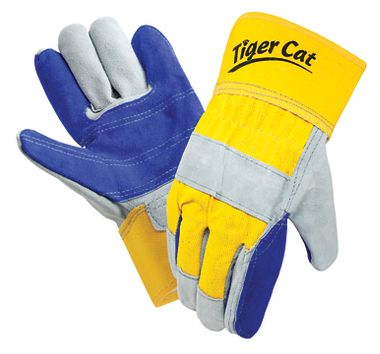 Tiger Cat™ Premium Leather Double Palm Gloves w/ Safety Cuff, 1 Pair