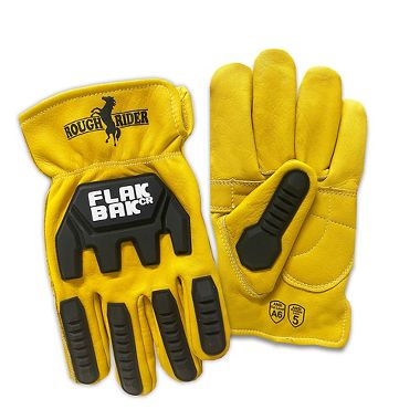 Rough Rider® FlakBak™CR Impact Protection and Cut Resistant Leather Driver Gloves