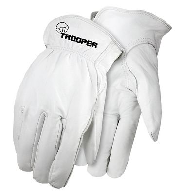 Trooper Goatskin Drivers Gloves, Elastic Back