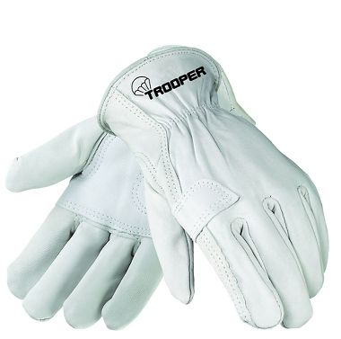 Trooper Goatskin Double Palm Gloves, 1 Pair