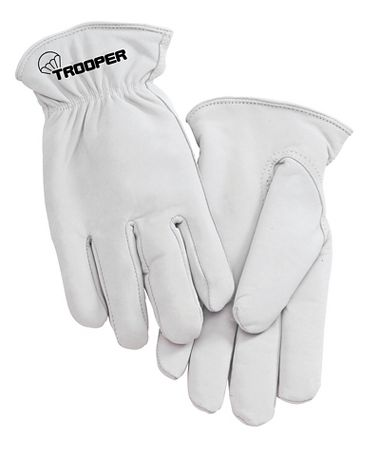 Trooper Goatskin Drivers Gloves, Black Flannel Lining, 1 Pair