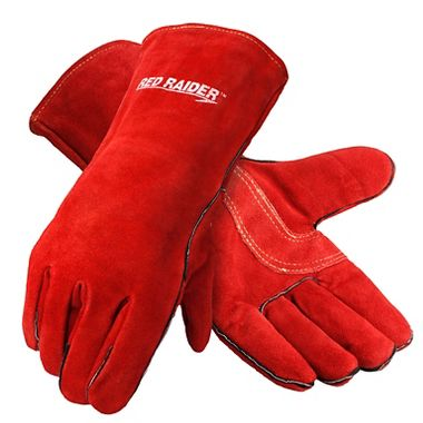 Red Raider® Premium Leather Welders Gloves, Lined, 1 Pair