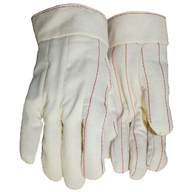 Cotton Double Palm Gloves, Band Top, Made in USA