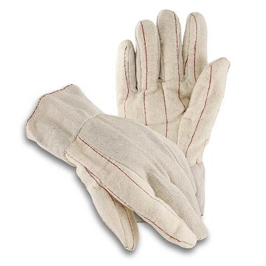 Cotton Double Palm Nap-out Gloves, Band Top, Made in USA
