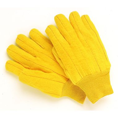 Gold Cotton Chore Gloves