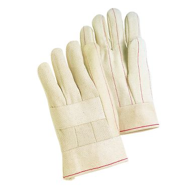 2 Layer Hot Mill Gloves, Band Top Cuff, No Knuckle Strap, Made in USA