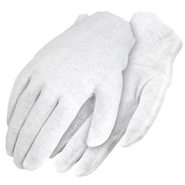 Cotton Inspection Gloves, Men's Mediumweight