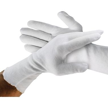 Cotton Inspection Gloves, Men's 12 Inch Heavyweight