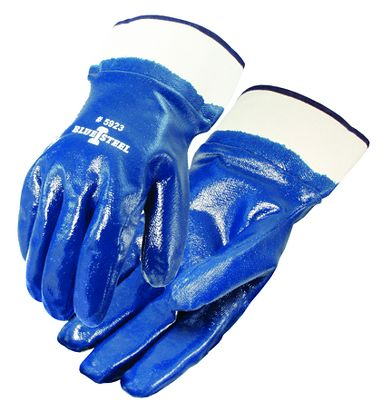Blue Steel™ Nitrile Coated Gloves, Smooth Finish, Safety Cuff