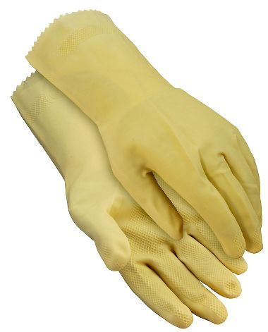 Latex Canners Gloves, Unlined, Natural
