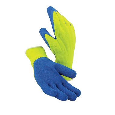Hi Viz Latex Palm Gloves, Terry Lining