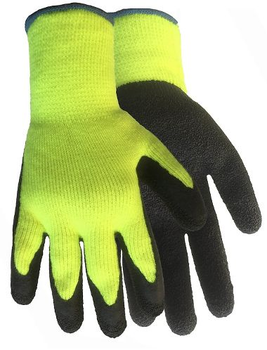Hi-Viz Rubber Coated Palm Gloves