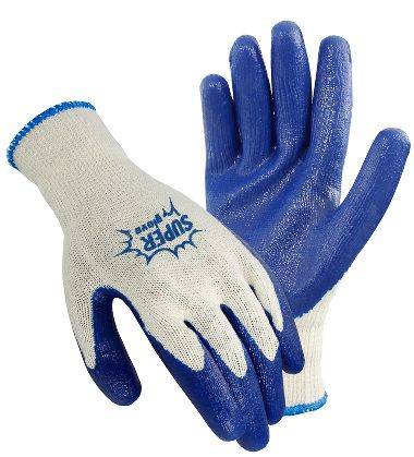 Super Gloves, Knit Gloves with Latex Coated Palm, Men's