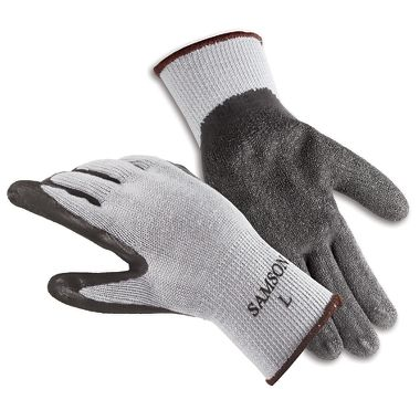 Samson Rubber Coated Gloves, 1 Pair