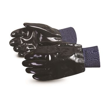 Neoprene Coated Gloves with Smooth Finish, Knit Wrist