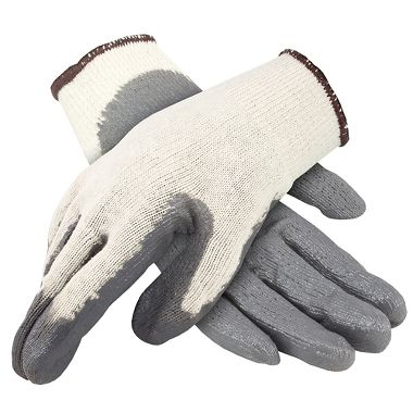 String Knit Gloves with Nitrile Palm, 1 Pair