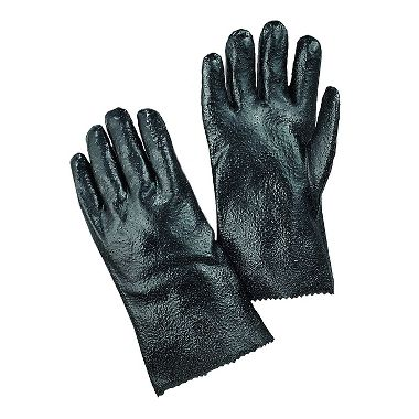 PVC Gloves with Rough Finish, 12 Inch, 1 Pair