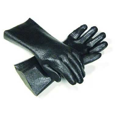 Textured PVC Gloves, 14 Inch