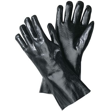 PVC Coated Gloves, 18 Inch, 1 Pair