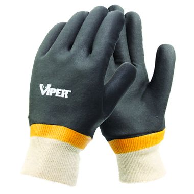 Viper® Double Coated PVC Gloves, Knit Wrist, 1 Pair