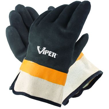 Viper® Double Coated PVC Gloves, Safety Cuff, 1 Pair