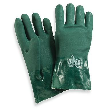 Viper™ Double Coated PVC Gloves, 12 Inch, Dark Green, 1 Pair