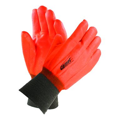 Comet® Insulated PVC Coated Gloves, Knit Wrist, 1 Pair