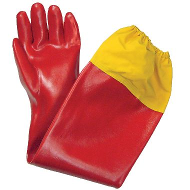 Shoulder Length PVC Gloves, 12 Pair/Package